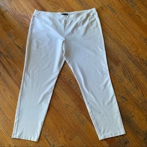 Eileen Fisher Off White Washable Crepe Ankle Pants